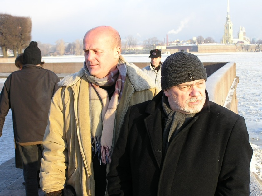 Kukorelly Endrével Szentpétervárott, 2004 decemberében