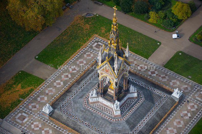 Albert Memorial, Hyde Park aerial