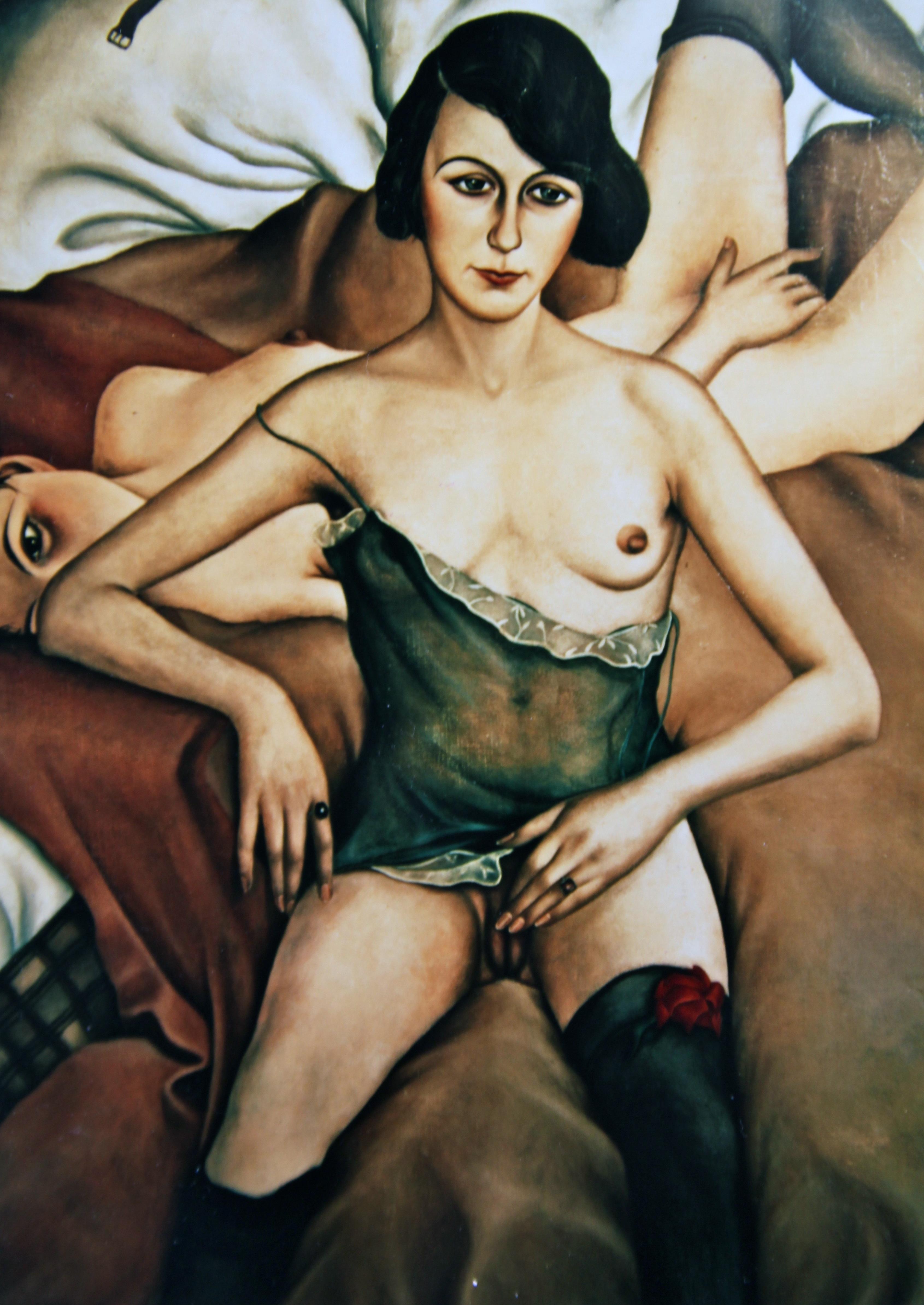 Christian Schad (1894--1982). A kép 1928-ban készült, és a New York-i Neue Gallerie tulajdonában áll.